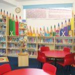 Biblioteca infantil e classificação por cores